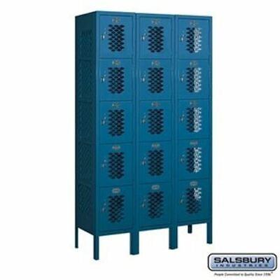 Salsbury 12 Wide Five Tier Box Style Vented Metal Locker - 3 Wide - 5 Feet High