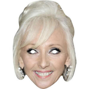 Debbie McGee Magician Celebrity Card Mask - All Our Masks Are Pre-Cut!
