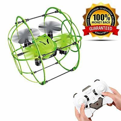 2.4GHz Double Wireless Flying Caged Drone 4-Axis Flip Roll Gyroscope Kids Toy UK