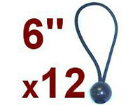 """US FREE SHIPPING * New 6pc 6/"""" Ball Bungee Cord Canopy Tarp Tie Down Straps"""