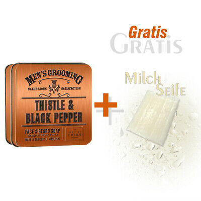 Mens Grooming (Scottish Fine Soaps Gesichts- & Bartseife Men's Grooming in Dose 100g und Gratis)