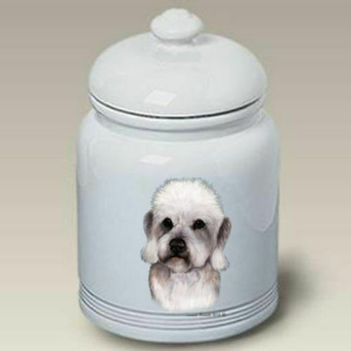 Pepper Dandie Dinmont Terrier Ceramic Treat Jar TB 34211