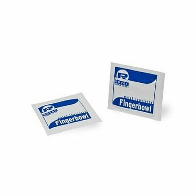 Royal RF1MB Moist Wet Wipe Towelette, Individually Wrapped, Package of 100,