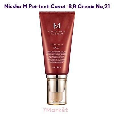 [Missha] M Perfect Cover Blemish Balm BB Cream 50ml #21 SPF42 PA+++ Free gift