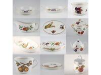 50 x royal Worcester evesham china dinner set plate bowl dish casserole jug teapot
