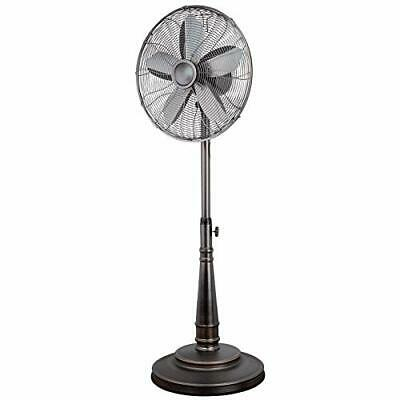 Optimus 16 Inch Retro Oscillating Stand Fan with Oil Rubbed