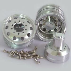Billet-Machined-Alloy-Rear-Wheel-for-Tamiya-1-14-Scale-Semi-Truck