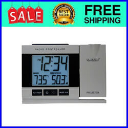 Projection Alarm Clock LED Atomic Indoor Outdoor Wireless Temperature Weather