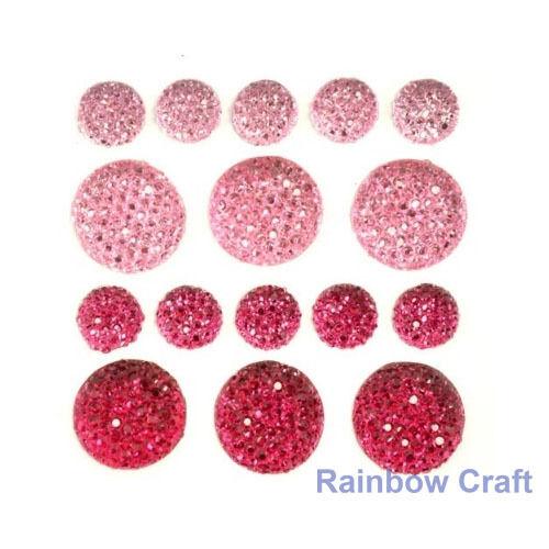kaisercraft Bling Sparklets / Self Adhesive Rhinestones crystal ebony hearts - Crimson