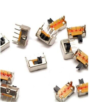 10x Side Slide Switch Mini Small Tiny 4mm ON/OFF Switches 3-Pin DC 50V 0.5A