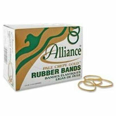 Alliance Rubber Pale Crepe Gold Rubber Band - Size 107 - 7 Length X 0.62