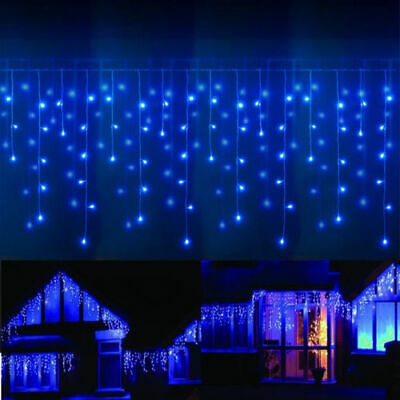13-130FT LED Fairy Icicle Curtain Lights Party Indoor Outdoor Xmas Decor Garden ()
