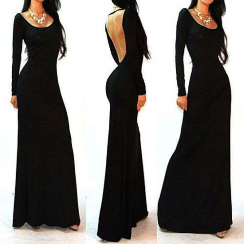 Long Sleeve Backless Dress | eBay