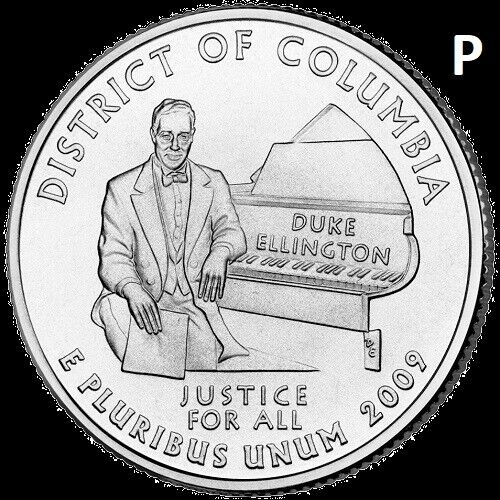 2009 P Distric of Columbia Quarter DC & US Territory State~ UNC Uncirculated 2nd