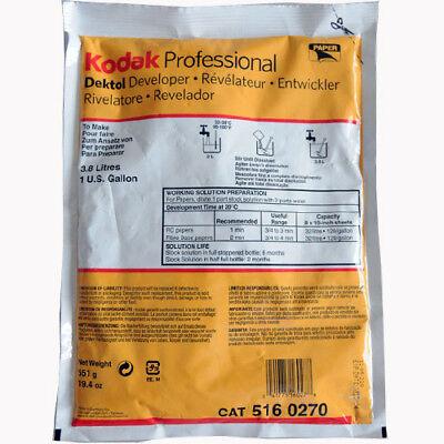 Kodak Dektol Developer D-72 Powder B&W Paper 3.8L (To Make 1 Gallon) CAT 5160270
