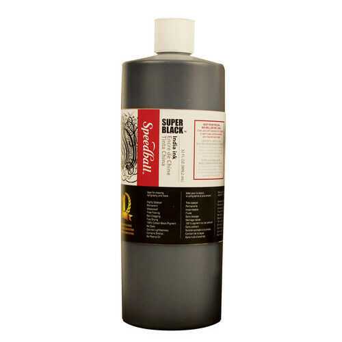 SPEEDBALL ART PRODUCTS 3398 SUPER BLK INDIA INK 32OZ