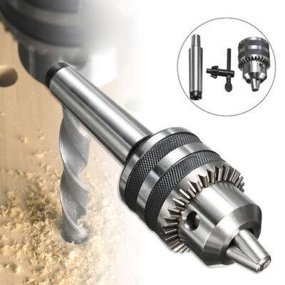 12 Heavy Duty Drill Chuck W Mt3 Morse Taper Arbor 3mt 1-13mm Key For Lathe