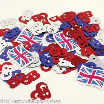 Union Jack GB Table Confetti Street Party Olympics British Themed Parties - British Themed Party