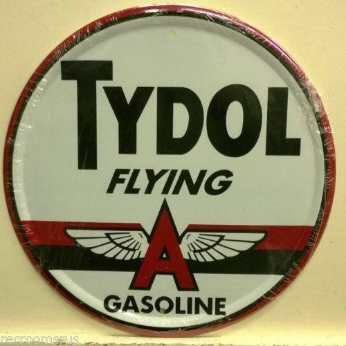 Porcelain Flying Gasoline Enamel Sign 12 Inches Approx 1930-69