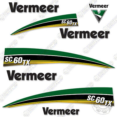 Vermeer Sc 60 Tx Stump Grinder Decal Kit Curved Sc60tx