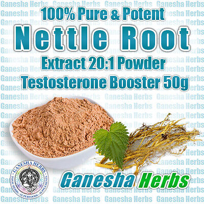 100% Pure Nettle Root High Potency 20:1 Extract Powder Testosterone Booster 50g. - Nettle Root Testosterone