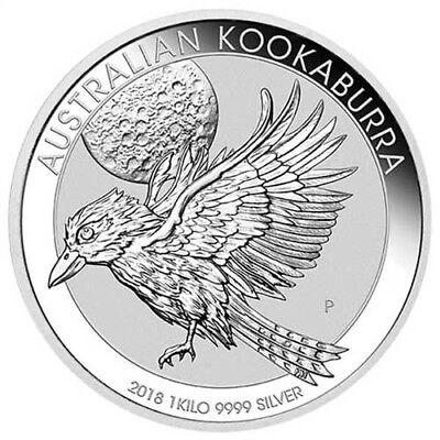 2018 1 Kilo Australian Silver Kookaburra Coin (BU)