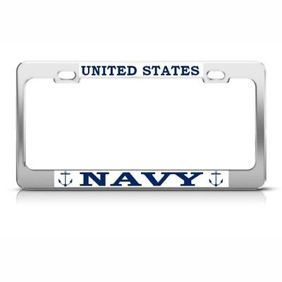 U.S. NAVY METAL MILITARY License Plate Frame Tag Holder