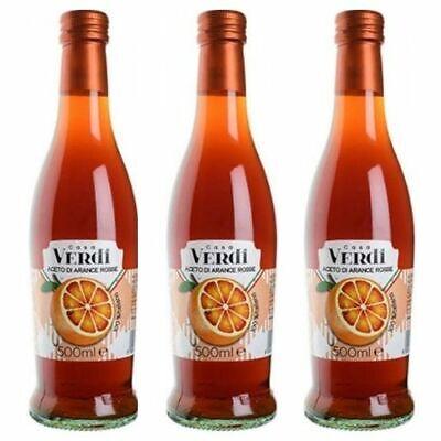 3 Botellas De Vinagre De Naranjas Rojas Casa Verdi 500ML L'Aretino 100%...