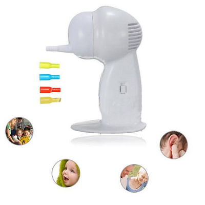 Ear Cleaner Wax Removal Safe Suction Painless Cordless Vacuum Remover UK