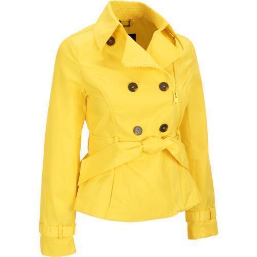 Womens Yellow Coat Ebay