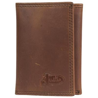 Justin Brown Wallet (Justin Western Mens Wallet Trifold Leather Brown 1920568W3)