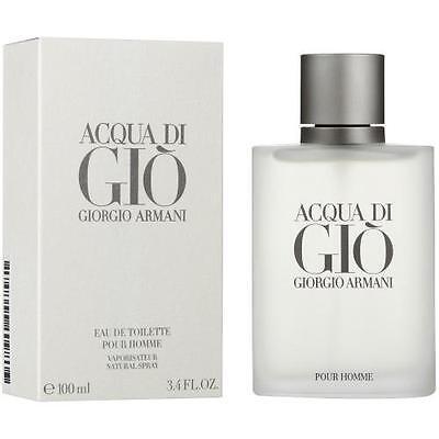 GIORGIO ARMANI ACQUA DI GIO 100ML EDT SPRAY FOR MEN BRAND NEW & SEALED - Acqua Di Gio Edt Spray