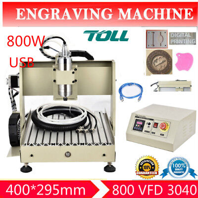 3d Printer Usb 4 Axis Cnc Router 3040 Engraver Milling Drilling Carving Machine