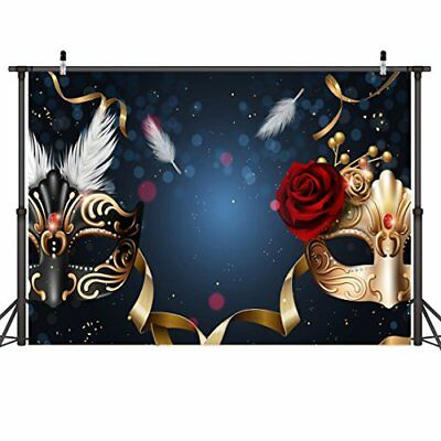LYWYGG Birthday Party Thin Vinyl Photography Backdrop 7x5FT Masquerade Mysteriou - Masquerade Backdrop