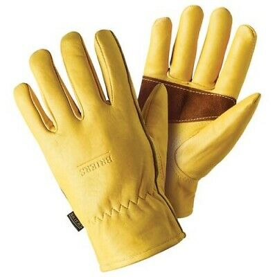 Pack (6) Briers Golden Leather Gloves with Palm Protection - Large - B6533 - NEW