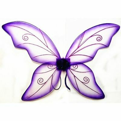 Purple Adult Dress Up Fantasy Butterfly Fairy Wings Tinkerbell Womens Costume