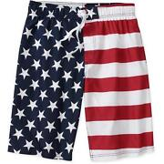 American Flag Shorts Men