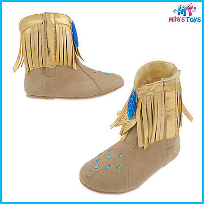 Pocahontas Costume Shoes For Kids sizes 7-12 brand new