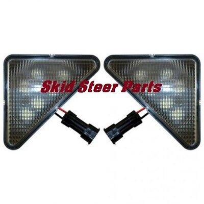Led Headlight Kit - Rh And Lh Lamps Flood Beam Bobcat 753 773 S185 T190 S175
