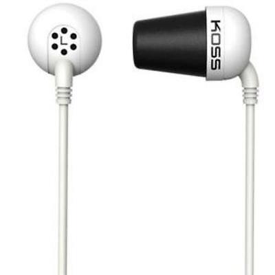Koss Plug Earphone - Stereo - White - Mini-phone - Wired - 16 Ohm - 10 Hz 20 Khz comprar usado  Enviando para Brazil