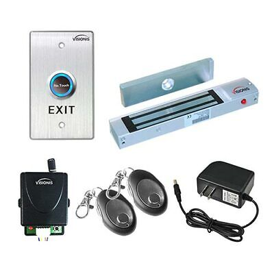 Door Buzzing System Magnetic Lock Wireless Kit With Multientry And No Touch Exit