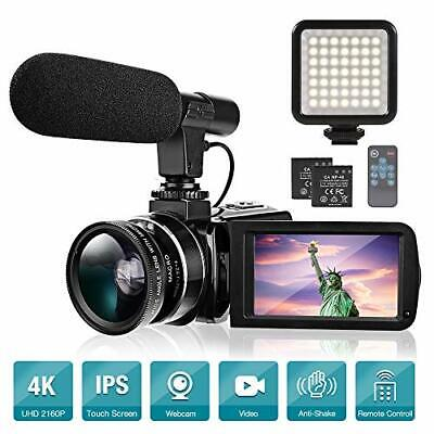 """Camara De Video De Videocamara 4K Vlogging Pantalla Tactil De 3"""" con Microfono"""