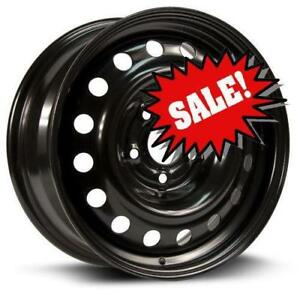 subaru impreza base  winter STEEL WHEEL 16X6.5 5-100 56.1CB +44 BLACK $220 for 4
