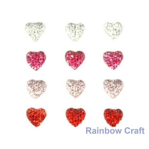 kaisercraft Bling Sparklets / Self Adhesive Rhinestones crystal ebony hearts - Hearts