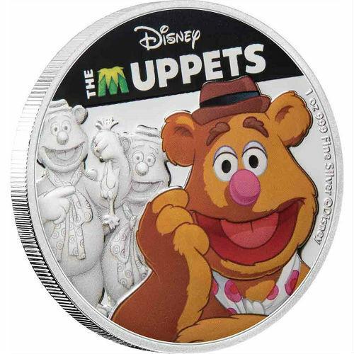 FOZZIE BEAR  DISNEY: THE MUPPETS - 2019 1 oz Pure Silver Coin - Niue NZ MINT