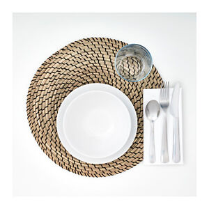 6 Ikea Placemat Natural Jute Lattad $35 retail natural fiber