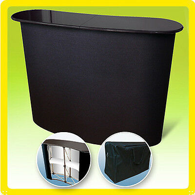 Podium Stand Trade Show Display Pop Up Table Counter L1 - Black