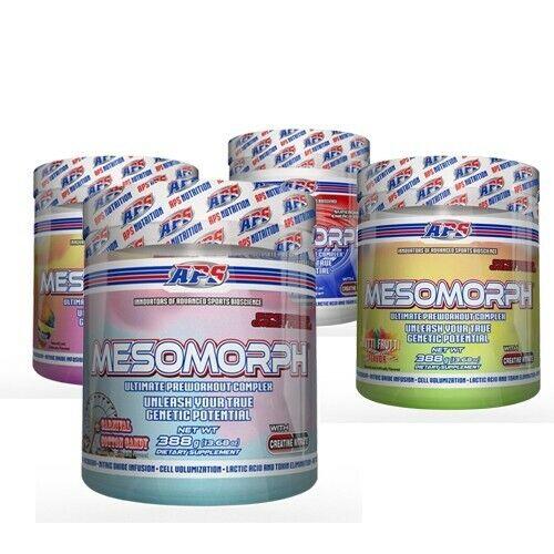 APS MESOMORPH PRE-WORKOUT 25 servings New Formula - Pick Fla