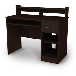 Axess Contemporary Computer Desk for Sale- Sturdy/Compartments