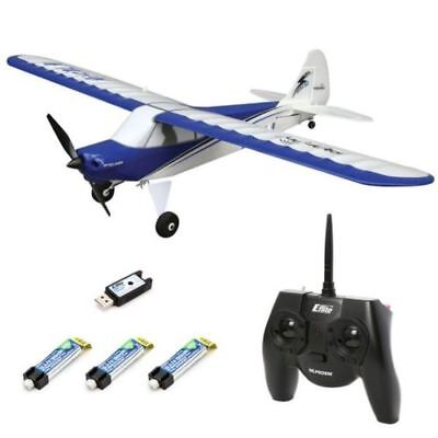HobbyZone Sport Cub S RTF R/C RC Electric Airplane - 3X Battery Ultimate Combo